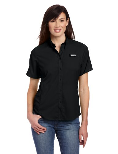 Columbia Women's Tamiami II Short Sleeve Shirt, Large, Black (Woman Columbia Tshirt)