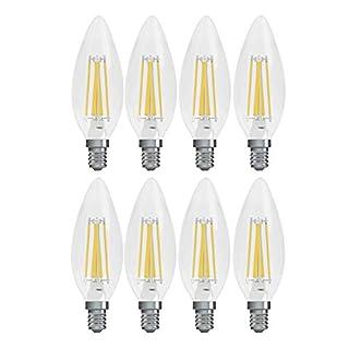 GE Lighting Refresh HD LED 5.5-watt (60-watt Replacement), 500-Lumen Candle Light Bulb with Candelabra Base, Daylight, 8-Pack