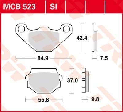 ABE Lucas SI-Bremsbelag HINTEN TGB 325 Blade LE SL 2007
