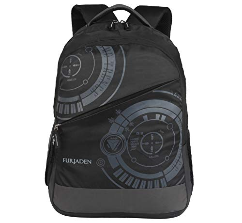 Fur Jaden 35L Casual 15.6 Inch Laptop Backpack for School, College Students with 3 Compartments (Black)