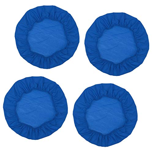 4Pcs Universal 50cm Round/Square Chair Cover Dining Wedding Banquet Blue Bronze Round Bar Stool