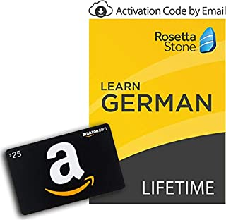 Rosetta Stone: Learn German with Lifetime Access on iOS, Android, PC, and Mac - mobile & online access [PC/Mac Online Code] with $25 Amazon Gift Card (B07KNSGW8J) | Amazon price tracker / tracking, Amazon price history charts, Amazon price watches, Amazon price drop alerts