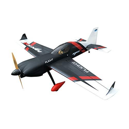 3D RC Plane MXS-R 20CC 2019 June New Batch Wood Gasoline 3D RC Plane, White & Black Covering