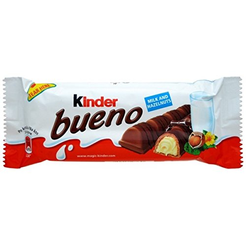 Chocolate Kinder Bueno Pack of 30 Milk Hazelnut Waffle bars