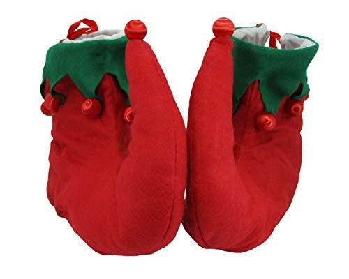 Making Elf Shoes (Nicky Bigs Novelties Light Up Santa's Helper Elf Shoes, Red Green, One)