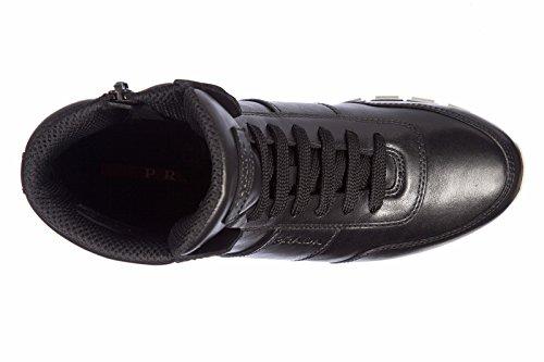 Deporte Mujer Zapatillas ternegro Piel neg largas Prada Soft de Zapatos en qTHxwPngRt