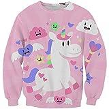 KIDVOVOU Custom Girl's Unicorn Hoodies Cartoon Sweatshirt with Design