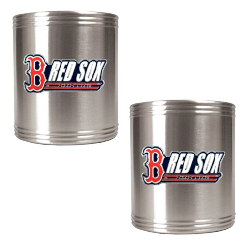 UPC 089006360967, MLB Boston Red Sox Two Piece Stainless Steel Can Holder Set
