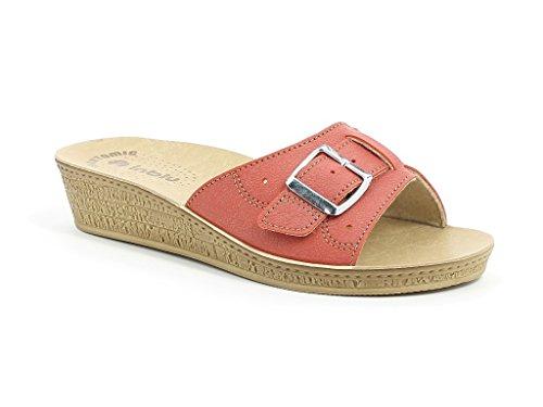 INBLU - Zapatillas de estar por casa para mujer Coral