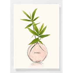 Valentine Gifts - Bamboo Flower Art Print of Original Watercolor Painting,A4, Bamboo and Perfume Glass