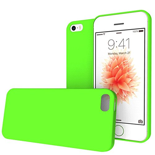 iPhone SE Case, REDshield [Green] Slim & Flexible Anti-shock Crystal Silicone Protective TPU Gel Skin Case Cover for Apple iPhone SE (2016) / 5S (2013) / 5 (2012)
