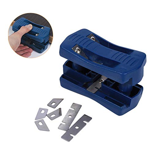 Trimmer, Mini Plastic PVC Plywood Melamine Wood Edge Band Cutter Manual Trimming Woodworking Tool Double Edge Trimmer for Laminates/Veneers Manual Trimming Gantry Cutter ()