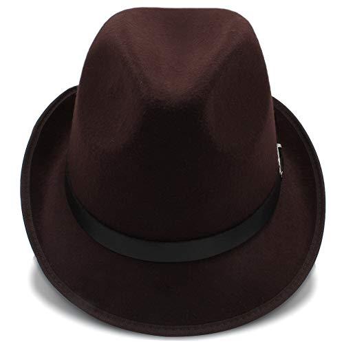 Color de Invierno hats Trilby Estilo Sombreros otoño 58CM Fedora para Casual de Café Sol de de Hombres 56 Sombreros de Café Ocasionales Sombreros tamaño británico Sun RxUwdq6aq