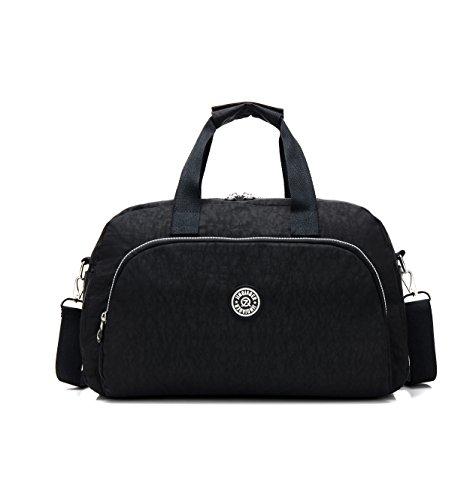- GuiShi(TM) Waterproof Travel Weekender Shoulder Bag Lightweight Gym Tote Organiser Weekender Bag (Black)