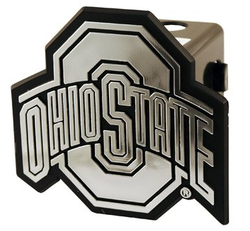NCAA Ohio State Buckeyes Silver Trailer Hitch Cover