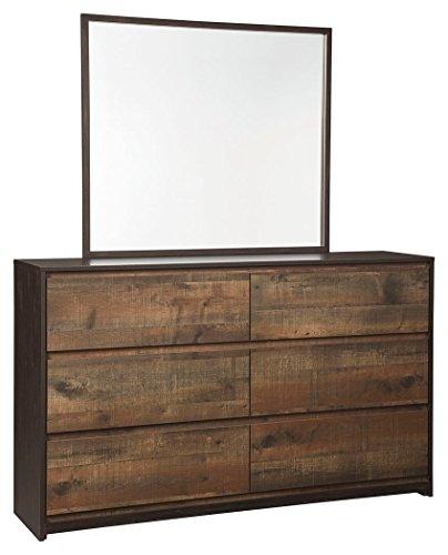 Amazon Com Ashley Furniture Signature Design Windlore Dresser Amp Mirror Contemporary Bedroom