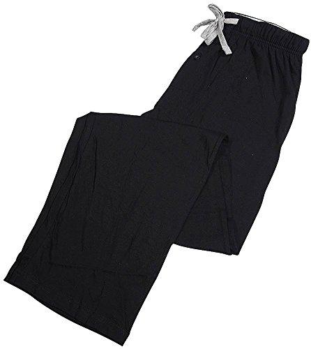Hanes Mens Big & Tall Cotton Drawstring Pajama Sleep Pants, 4XL, Blue