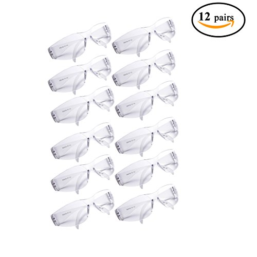 Golden Scute Safety Glasses with UV Protection, ANSI Z87.1, UV Resistant Clear Lenses, Lightweight, (Pack of - Frames Suit Shape To Face Glasses