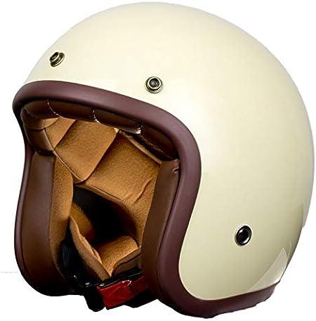 Casco moto vintage bianco Pendejo della collezione personalizzata iguana XS chopper scooter o moto classica. bobber prefetto stile retr/ò per cafe racer