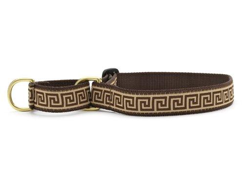 """Greek Key Martingale Dog Collar - Large 13.5 - 22.5"""""""