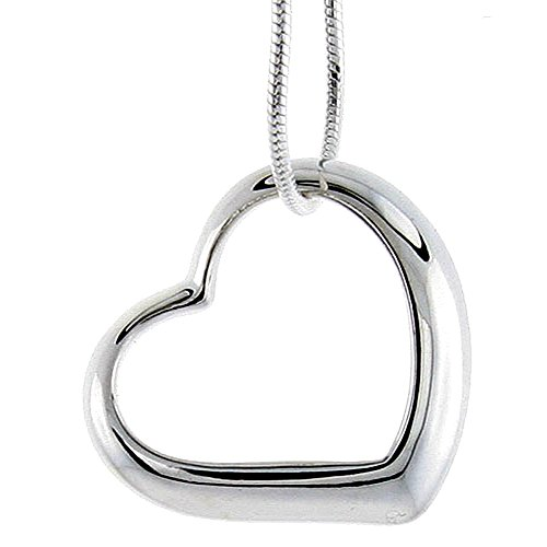 Beautiful Sterling Silver Valentine Floating