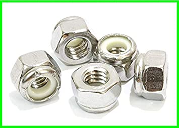110 pcs 3//8 Three Eighths Inch Nylon Insert Hex Lock Nuts Stainless Steel 18-8 By Dolos