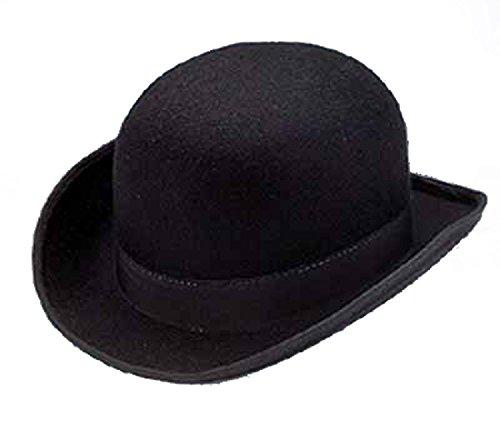 (16875 Large 7 3/8 Black Permalux Derby Bowler Hat)