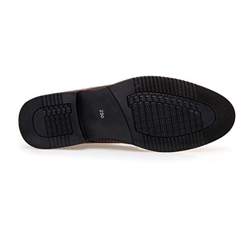 hommes sangle cuir en pour WSK hommes chaussures professionnel pour chaussures hommes creux dentelle sandales respirant en costume Derby Chaussures brown Chaussures wXx8xI