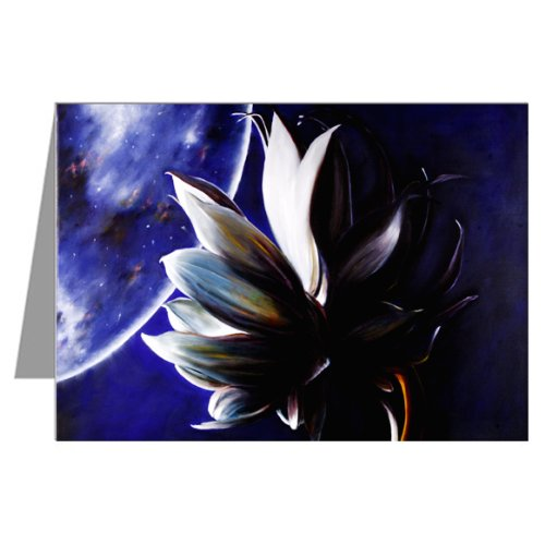 Single Greeting Card Original Artwork By Philo Titled Night Queen ()