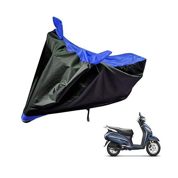 Auto Hub Bike Body Cover for Honda Activa 3G - Black/Blue