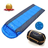 Angker Sleeping Bag, Comfort With Compression Sack, Envelope Lightweight Portable, Waterproof, Great For 4 Season Traveling, Camping, Hiking, Outdoor Activities, Includes Waterproof Compression Carry Bag (Gray, 42*28)