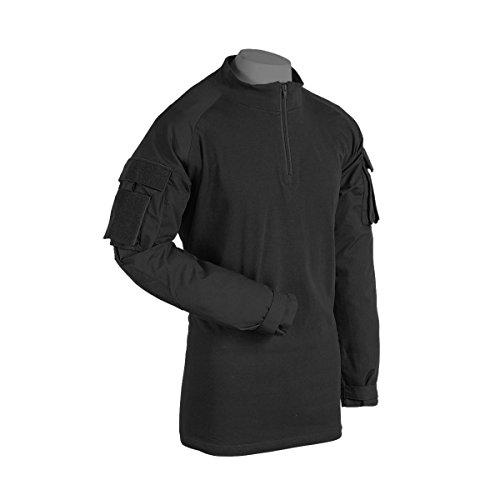 VooDoo Tactical 01-9582001096 Combat Shirt with Zipper, Black, X-Large