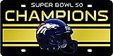 Denver Broncos Super Bowl 50 Champions Laser Cut Acrylic License Plate