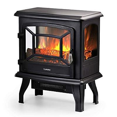 TURBRO Suburbs Freestanding Electric Fireplace Stove Heater