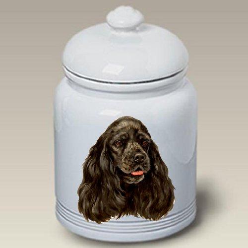 - Best of Breed Cocker Spaniel Black - Linda Picken Treat Jar