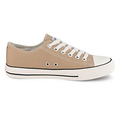 Best-botas para mujer zapatilla zapatillas zapatos de cordones estilo deportivo beige - caqui