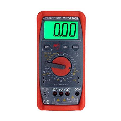 Shunlicg Multimeter AC DC Ohm Volt Meter Voltmeter Ohm Meter Ammeter LCD Digital Multimeter: Sports & Outdoors