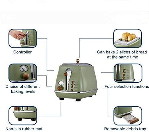 2-Slice Toaster, RVS Brood Machine huishoudelijke elektrische Kettle broodbakmachine Twee-delige set 4 Wijzen van Ontbijt Machine xiao1230