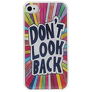 Don't Look Back Pattern Epoxy Hard Case for iPhone 4/4S