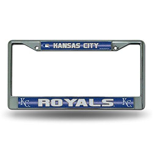 (MLB Kansas City Royals Bling License Plate Frame, Chrome, 12 x 6-Inch)