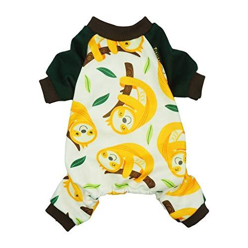 Fitwarm Sloth Pet Pajamas Dog Clothes PJS Cat Shirts Jumpsuit - Dog Pjs