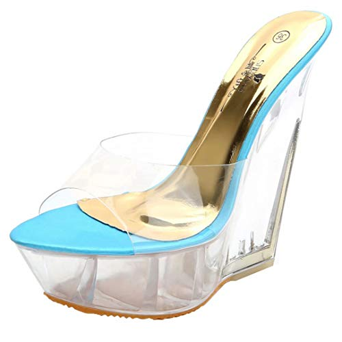 Mules JYshoes JYshoes Mules Femme Bleu JYshoes Bleu Femme Mules qXxtAXY