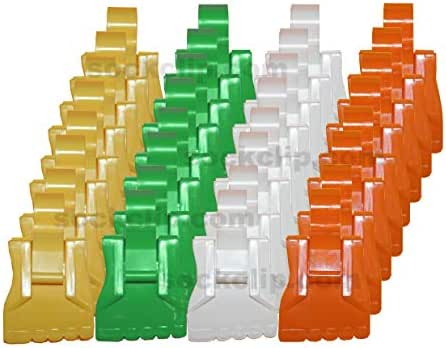 The Amazing Sock Clip, Spring Assorted 32 Clips, (8 Each of 4 Colors) Made in U.S.A.