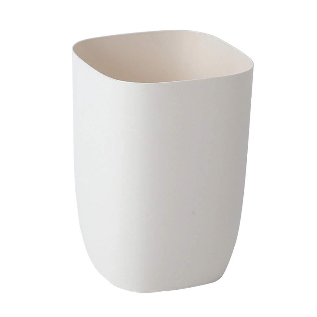 Goquik Plastic Square Trash Can Home Living Room Bedroom Bathroom Fashion Without Cover Large Chinese Simple Modern Paper Basket Trash Can by Goquik
