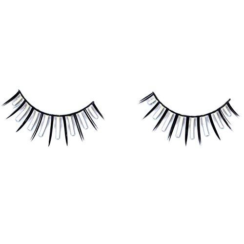 [Loftus Modern Futuristic Costume 2pc Eyelashes, Black White, One Size] (Easy Futuristic Costumes)
