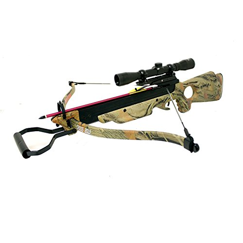 (150 Lbs Wizard Camouflage Autumn Green Hunting Crossbow 4x32 Scope Package)