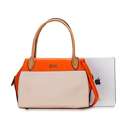 Barbie NEU Leder Handtasche Umhängetasche Schultertasche Messenger Bag Damen Orange