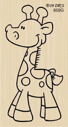Cute Giraffe Rubber Stamp