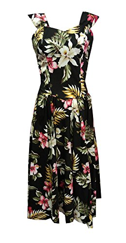Jade Fashions Inc. Women Black Orchid Flower Sunny Long (Jade Orchid Flower)