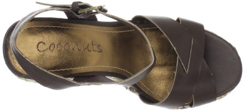 Noix De Coco Par Matisse Womens Madrid Wedge Sandale Chocolat